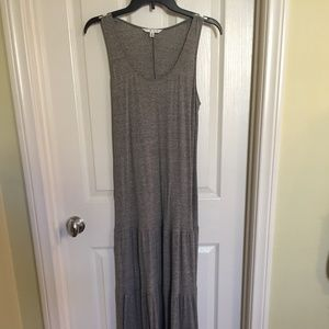 CAbi Super Long Maxi Dress in Gray Size M